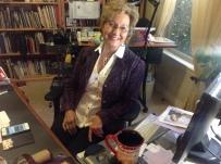 Linda at desk