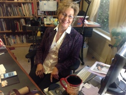 Linda at desk