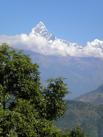 Mount Fishtail, as seen from Pokhara, Nepal