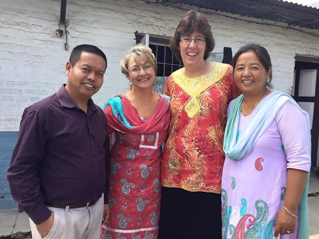 Carol and Linda in Nepal