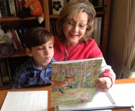 Sammy & Grandma Linda reading